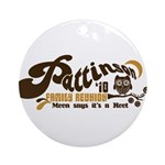 Patz Family Reunion Ornament (Round)