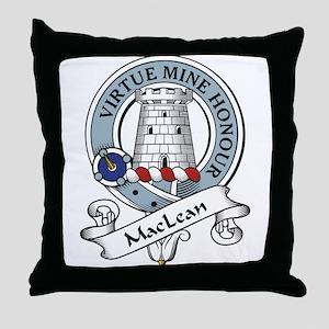 MacLean Clan Badge Throw Pillow