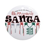 Buttcrack Santa Ornament (Round)