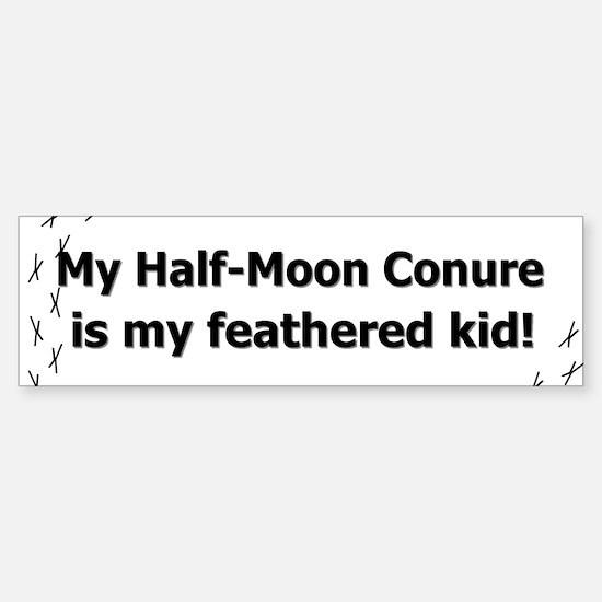 Half-Moon Conure Feathered Kid Bumper Bumper Bumper Sticker