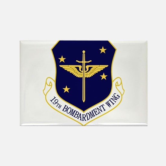 19th Bomb Wing Rectangle Magnet
