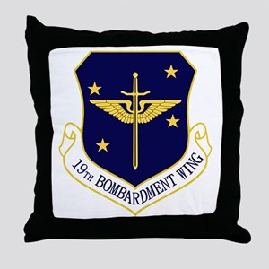 19th Bomb Wing Throw Pillow