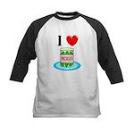 I Love Pickles Kids Baseball Jersey