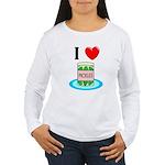 I Love Pickles Women's Long Sleeve T-Shirt