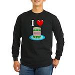I Love Pickles Long Sleeve Dark T-Shirt