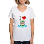 I Love Pickles Women's V-Neck T-Shirt