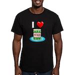 I Love Pickles Men's Fitted T-Shirt (dark)