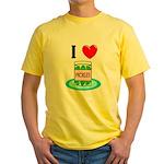 I Love Pickles Yellow T-Shirt