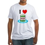 I Love Pickles Fitted T-Shirt