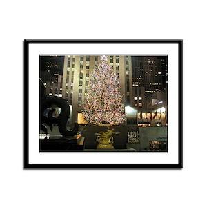 NYC Christmas Framed Panel Print