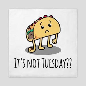 Not Taco Tuesday - Black Queen Duvet