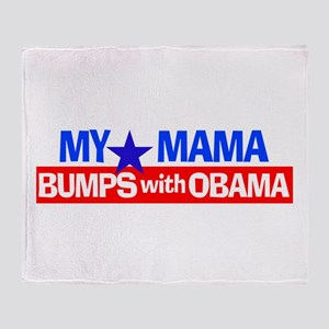 Mama Bumps with Obama Throw Blanket