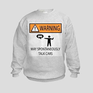 Car Talk Warning Kids Sweatshirt
