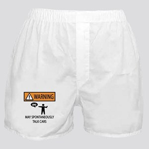 Car Talk Warning Boxer Shorts