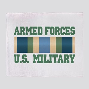 US Military Service Ribbon Throw Blanket