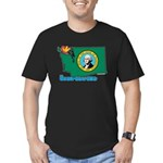 ILY Washington Men's Fitted T-Shirt (dark)