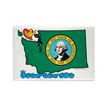 ILY Washington Rectangle Magnet (100 pack)