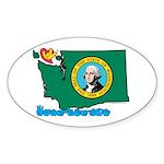 ILY Washington Sticker (Oval 10 pk)