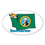 ILY Washington Sticker (Oval 50 pk)