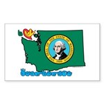 ILY Washington Sticker (Rectangle 10 pk)