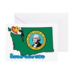 ILY Washington Greeting Cards (Pk of 20)