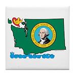 ILY Washington Tile Coaster