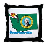 ILY Washington Throw Pillow