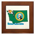 ILY Washington Framed Tile