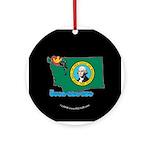 ILY Washington Ornament (Round)