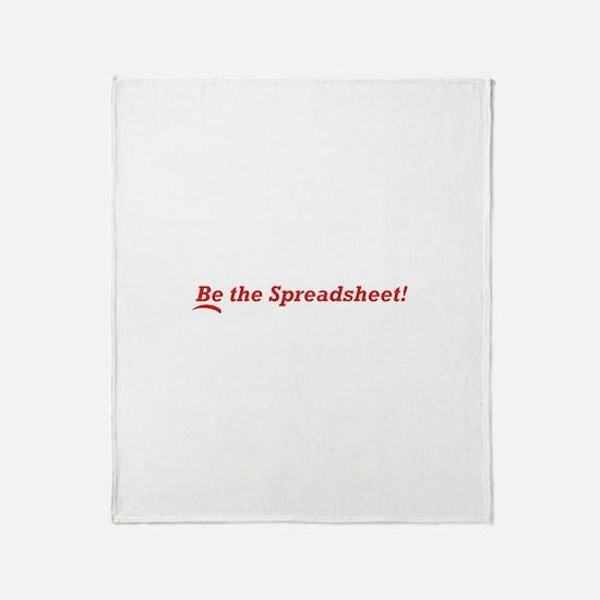 Be the Spreadsheet Throw Blanket