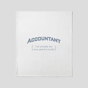 Accountant - Math Throw Blanket