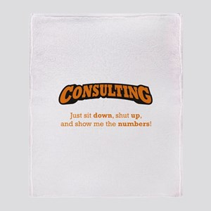 Consulting-Numbers Throw Blanket