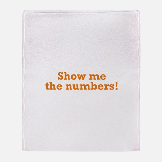 Show me the numbers! Throw Blanket