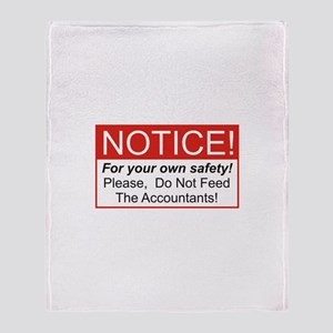 Notice / Accountants Throw Blanket