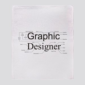 Graphic Designer Throw Blanket