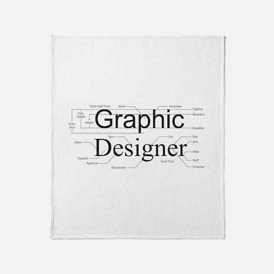 Graphic Designer Throw Blanket