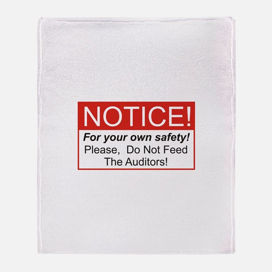 Notice / Auditors Throw Blanket