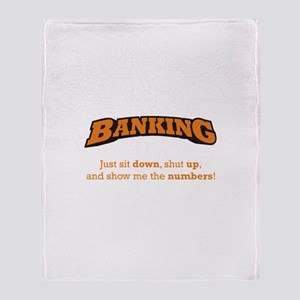 Banking-Numbers Throw Blanket