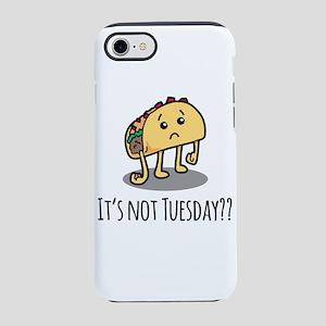Not Taco Tuesday - Black iPhone 7 Tough Case