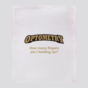 Optometry / Fingers Throw Blanket