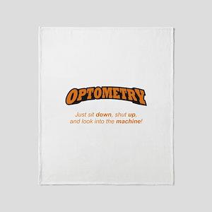 Optometry / Machine Throw Blanket