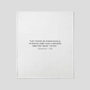 Paralegal / Genesis Throw Blanket