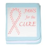 Peach Paws4Cure baby blanket