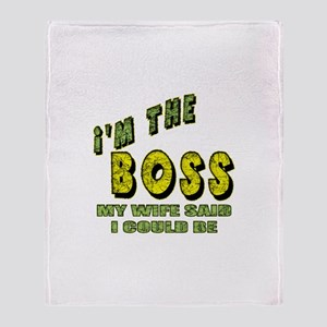 The Boss Throw Blanket