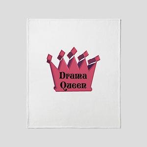 Drama Queen Throw Blanket