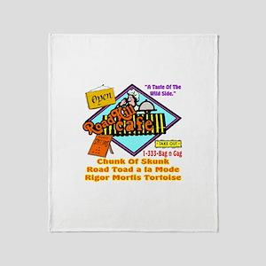 Restaurant Humor Throw Blanket
