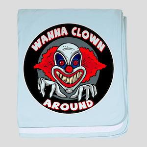 Evil Clown baby blanket