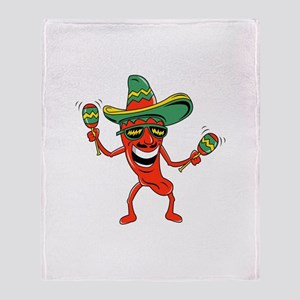 Hot Mexican Pepper Throw Blanket
