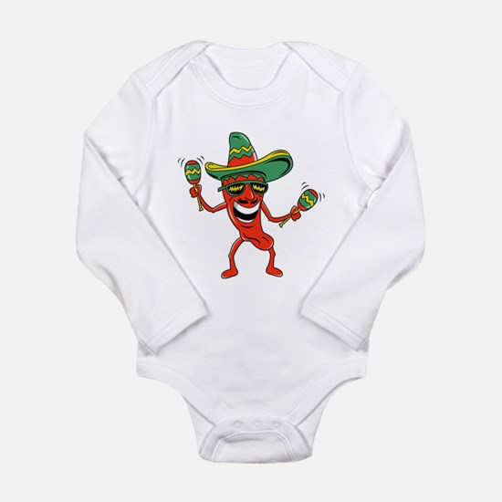 Hot Mexican Pepper Long Sleeve Infant Bodysuit