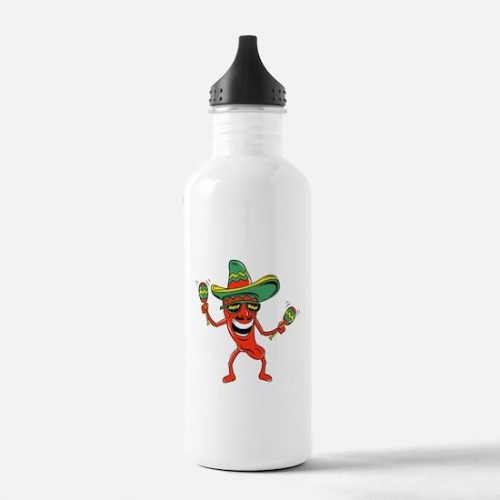 Hot Mexican Pepper Sports Water Bottle